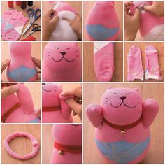 How to make Sock Lucky Cat Doll DIY tutorial instructions, How to, how to do, diy instructions, crafts, do it yourself, diy website, art project ideas