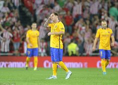 Lionel Messi is the picture of dejection after Athletic Bilbao shocked Barcelona, putting four goals past them in the Spanish Super Cup