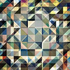 Abstract Earth Tone Grid by Phil Perkins   Crated