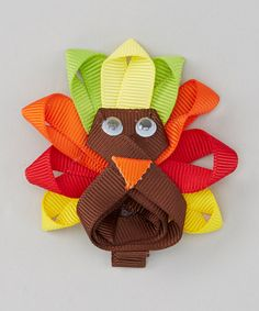 Another great find on #zulily! Loopy Loos Brown & Orange Turkey Clip by Loopy Loos #zulilyfinds