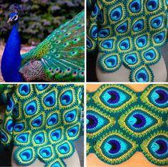 Crochet Peacock Blanket Free Pattern Plus Video Tutorial Knitting For BeginnersKnitting For KidsCrochet ProjectsCrochet Amigurumi Crochet Feathers Free Pattern, Peacock Crochet, Peacock Pattern, Afghan Crochet Patterns, Crochet Motif, Crochet Stitches, Free Crochet, Knitting Patterns, Simple Crochet