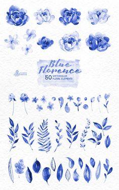 Delft, Watercolor Flowers, Watercolor Paintings, Tattoo Watercolor, Peony Drawing, Drawing Flowers, Blue Peonies, Blue Roses, Floral Wedding Invitations