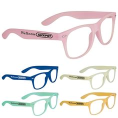 Promotional The Sun Ray Glasses - Glow-In-The-Dark Item #SM-7819 (Min Qty: 150). Customize your Promotional Sunglasses with your company logo and with no setup fees.