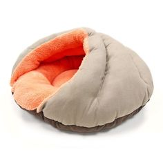 Burger Bed Small Dog Snuggle Bed - Solid Color | PupLife Dog Supplies