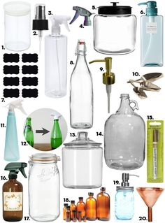 """When I wrote about 16 Oh-So-Pretty Cleaning Supplies, a commenter after my own heart asked, """"Does anyone have an idea of gorgeous spray bottles to use for homemade counter cleaners? That would really brighten up chore time for me, instead of using the same old battered plastic bottle I've been using for years..."""" I'm on it!"""
