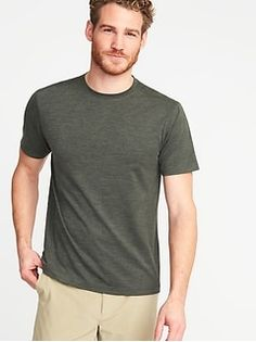 Built-In Flex Go-Dry Performance Tee for Men - oldNavy Mens Activewear, Shop Old Navy, Athletic Fashion, Short Sleeve Tee, What To Wear, Active Wear, Tees, Mens Tops, Clothes