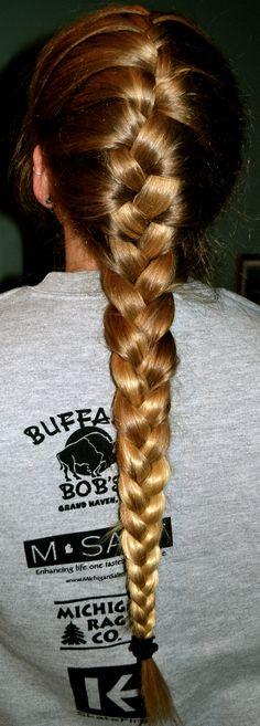 i love french braids. Thick Braid, Love French, French Braids, Braid Hair, Braids For Long Hair, Beautiful Long Hair, Plaits, Updos, Hair Pins