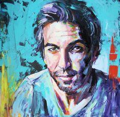 Elyas M'Barek - Acryl auf Leinwand 80 x 100 cm