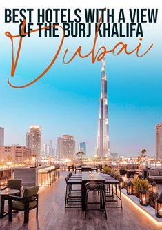 Best hotels with a burj khalifa view in Dubai! #dubai #uae #travel #luxurytravel Dubai Guide, Dubai Travel Guide, Travel Ideas, Travel Inspiration, Travel Tips, Travel Abroad, Asia Travel, Hotels And Resorts, Best Hotels