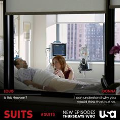 "Suits. Louis Litt ""Is this heaven?"""