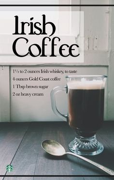 Warm up with this traditional Irish Coffee Recipe made with Gold Coast Blend. The flavor notes in the coffee pair perfectly with the cream, sugar, and whiskey :)