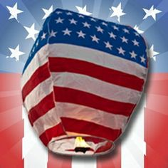 The ultimate patriotic wishlantern - ideal for the 4th of July. Imagine sending a bunch of these out into the nightsky :) http://www.birando.com/american-flag-sky-lantern
