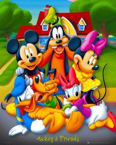 Mickey Minnie Goofy Daisy Donald and Pluto
