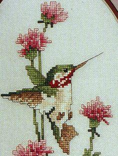 Hummingbird Cross Stitch Charts | ... Hummingbird By Leisure Arts - Counted Cross Stitch Pattern Chart