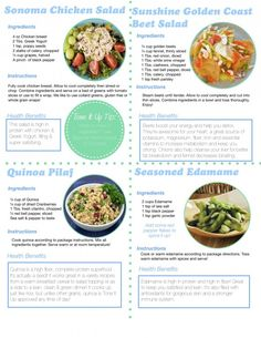 Yum! Healthy Lunch options including a delicious and easy Chicken Salad Recipe from the Tone It Up Nutrition Plan.