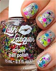 NEW Neon--TGIF:  Custom-Blended NEON Glitter Nail Polish / Lacquer/ indie polish via Etsy