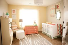 Inspired by This Pink + Peach Girls' Nursery by Design Loves Detail - Inspired By This