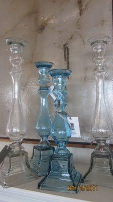 Blue glass.