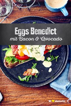 Eggs Benedict Fancy an American breakfast? The poached eggs and hollandaise sauce with cress make our Eggs Benedict perfect Mexican Breakfast Recipes, Brunch Recipes, Snack Recipes, Cooking Recipes, Healthy Recipes, Avocado Dessert, Avocado Toast, Egg Benedict, Easy Smoothie Recipes