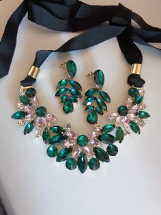 "Conjunto ""Green and Rose Glamour"" | Ref. Conj_0001 | DAPI JEWELARY (Indisponível) 20€"