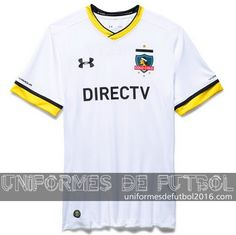 Jersey local para uniforme del Colo-Colo 2016 Football Kits, Chile, Mens Tops, T Shirt, Design, Necklaces, Soccer Kits, Supreme T Shirt, Tee