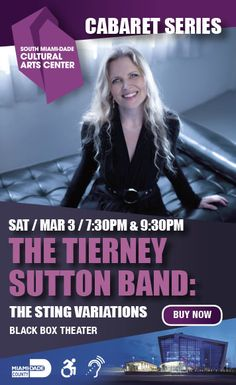 Grammy Nominated #Jazz Vocalist Tierney Sutton at South Miami-Dade Cultural Arts Center March 3, 2018 for Two Shows.