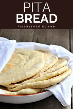 Pita Bread - Pinch and Swirl Recipes - Pita Recipes, Easy Bread Recipes, Baking Recipes, Pita Bread Recipe Quick, Flatbread Recipes, Savoury Recipes, Homemade Pita Bread, Sandwich Ingredients, Homemade Dinner Rolls