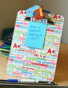 make your own decorated clipboard for back to school or teacher appreciation