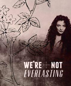 Lorde Lyrics - A WORLD ALONE