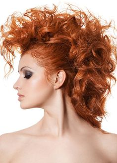 curly mohawk hairstyles long hair - Google Search