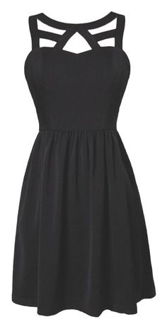 Cage Neckline Dress // #lbd Please follow / repin my pinterest. Also visit my blog http://mutefashion.com/
