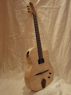 Custom Electric/Acoustic Guitar | Shelley D. Park :: Gypsy Jazz Guitar Luthier in the Style of Selmer Maccaferri
