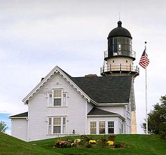 Cape Elizabeth Light, Maine. Built in 1874, but converted in 1924. Most powerful light in Maine where there are more than 60 lighthouses on the coast.
