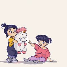 Agnes and Boo are so adorable!! #agnes #boo #unicorn #monstersinc #monstersandco #pixar #pixarfanart #monstersuniversity #despicableme #animation #characterdesign #character #digitalart #sketching #sketch #drawing #digitaldrawing #cute #crossover