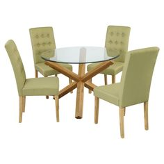 Oporto Dining Set with 4 Roma Chairs – Next Day Delivery Oporto Dining Set with 4 Roma Chairs from WorldStores: Everything For The Home