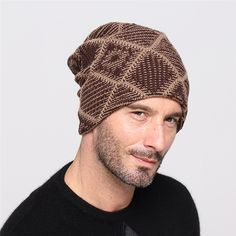 03982ce7bc80e Unisex Turban Bonnet Femme Homme Autumn Winter Warm Beanies Hats for Men  Women Wool Knitted Caps Chic