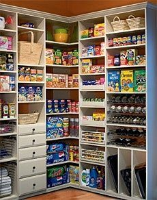 Dream pantry - even the baking sheets have their own space!.