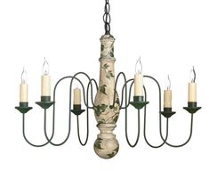 Ivy and Vine 6-Arm Wooden Chandelier by Country Traditions