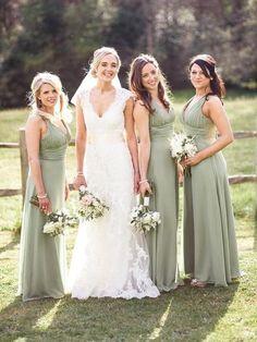 77d7a57b2e69 A Line Floor Length V-Neck Sleeveless Chiffon Bridesmaid Dress, BD1012 A  Line Floor Length V-Neck Sleeveless Chiffon Bridesmaid Dress, BD1012