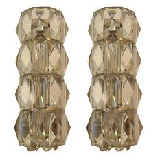 Pair of Bakalowits Glass Sconces | From a unique collection of antique and modern wall lights and sconces at http://www.1stdibs.com/furniture/lighting/sconces-wall-lights/