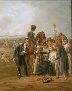 Albrecht Adam (1786–1862)1826_ The wounded General Jean Rapp in the battle of Borodino.oil on canvas 38 × 29 cm Rapp, Jean; French general; 1771-1821.-(Napoleonic Wars, Russian campaign 1812; battle of Bordino or on the River Moskva 7th of September, 1812).