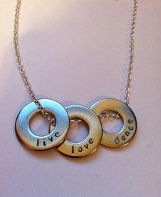 Dance Necklace Live Love Dance Necklace by HazelJewelryDesigns, $32.00
