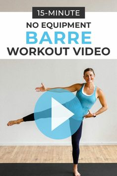 10 low impact, barre-inspired exercises in a 15-Minute Cardio Barre Workout Video! Raise your heart-rate + boost metabolism with just your bodyweight in 15 minutes! Great for pregnancy, post-baby, bad knees, beginners, and low impact cross training for runners!