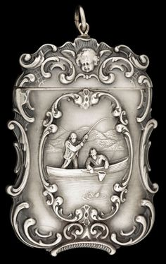 AN AMERICAN SILVER MATCH SAFE. Circa 1900.
