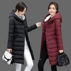 2017 New Long Parkas Female Women Winter Coat Thick Cotton Winter Jacket Womens Outerwear Parkas for Women Winter Outwear WU58