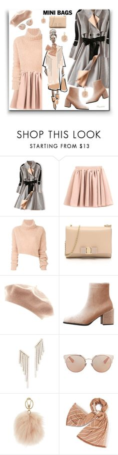 """Cute Mini Bag 😀"" by ragnh-mjos ❤ liked on Polyvore featuring Ann Demeulemeester, Salvatore Ferragamo, Kenneth Jay Lane, Christian Dior, Furla and Tory Burch"