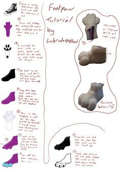 Fursuit footpaws tutorial by ~labradorpup2001 on deviantART