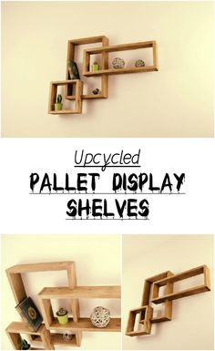 Upcycled Pallet Display Shelves