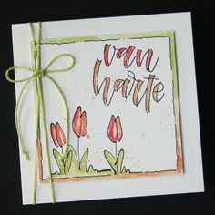 Marjoleine's blog: Nog een paar voorbeelden voor de workshop van zondag 29 april met de tulpen-stempels Doodle Drawings, Doodle Art, Shadow Painting, Hand Drawn Cards, Art Carte, Pun Card, Creative Lettering, Marianne Design, Watercolor Cards