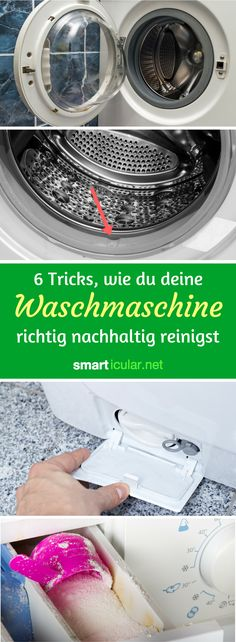 Wenn die Wäsche müffelt, liegt es wahrscheinlich an Schmutz und Keimen in der … If the laundry smells, it is probably due to dirt and germs in the washing machine! With these natural means and tricks clean and lime-free. Cleaning Companies, Household Cleaning Tips, House Cleaning Tips, Diy Cleaning Products, Household Products, Clean Out, Life Hacks, House Hacks, Clean Washing Machine